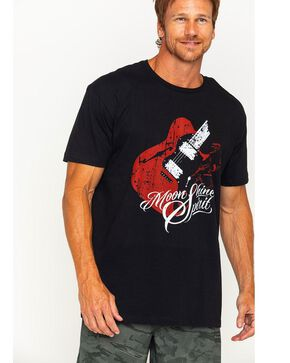 Moonshine Spirit Men's Guitar Print Short Sleeve T-Shirt, Black, hi-res