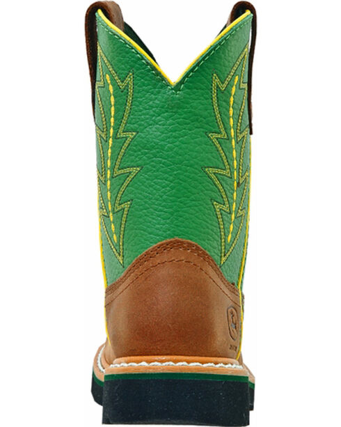 John Deere® Youth Johnny Popper Western Boots, Tan, hi-res