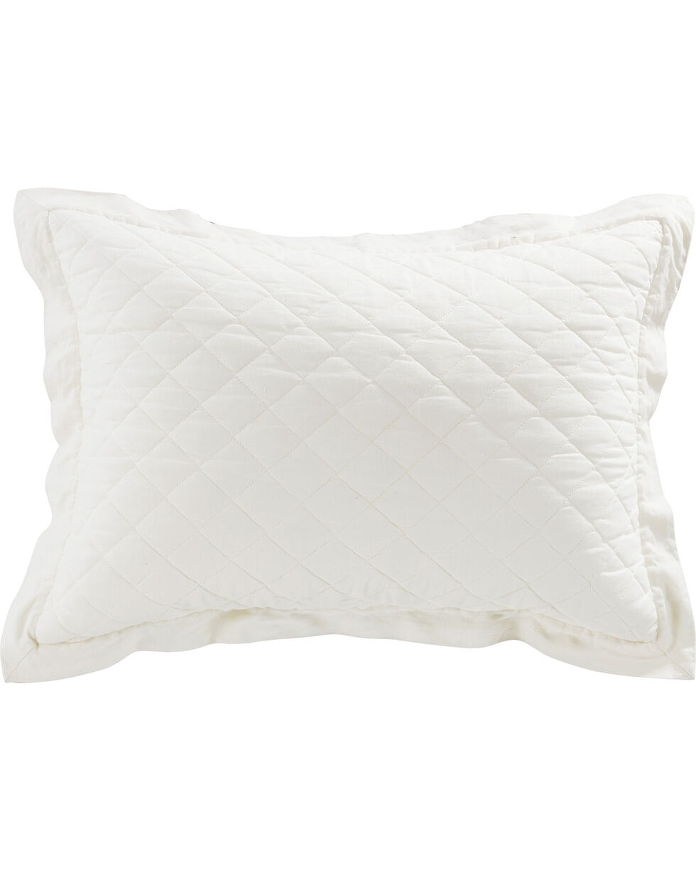 FB6100PS-KS-VW DIAMOND PATTERN LINEN QUILTED SHAM, KING VINTAGE WHITE, White, hi-res