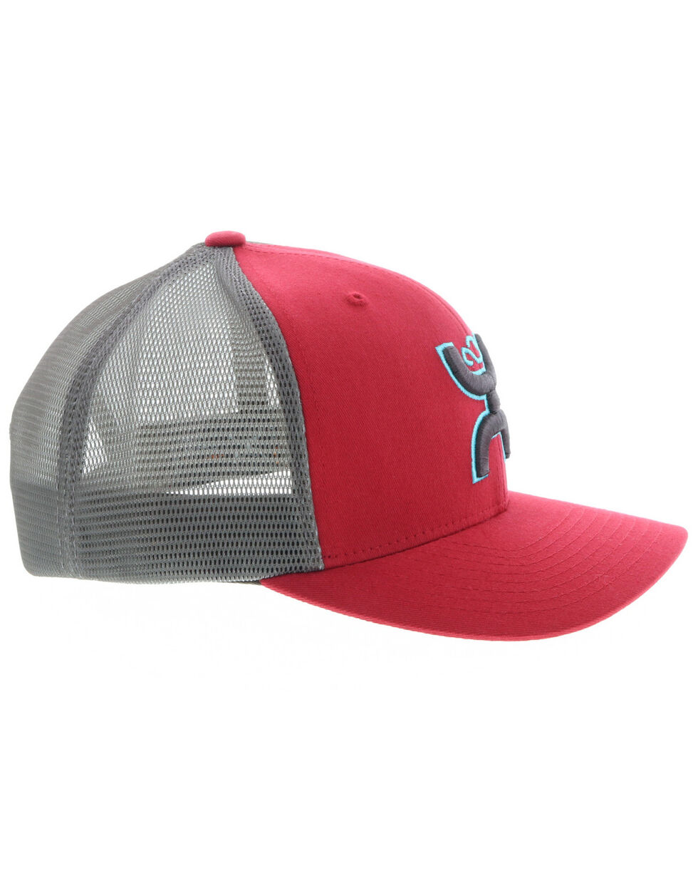 HOOey Men's Red Sterling Mesh Trucker Cap , Red/brown, hi-res