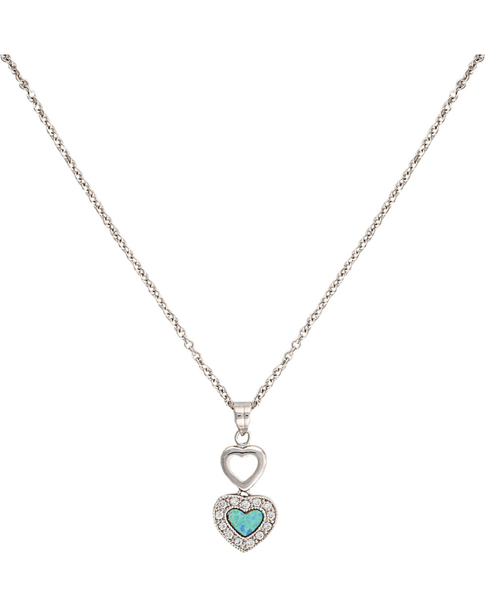 Montana Silversmiths River Lights in Love Necklace, Multi, hi-res