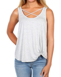 Eyeshadow Women's Crisscross Striped Tank Top, , hi-res