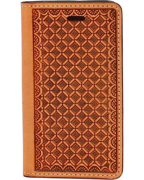 Nocona Leather Basketweave iPhone 5 and 5S Case Wallet, Tan, hi-res
