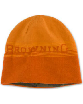 Browning Men's Alpine Reversible Orange and Camo Beanie, Orange, hi-res