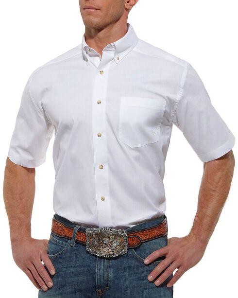 Ariat Solid White Poplin Shirt, , hi-res