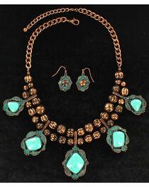 Blazin Roxx Women's Double Beaded Stone Jewelry Set , , hi-res