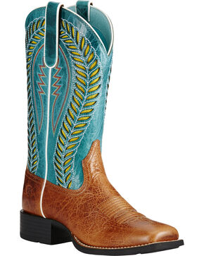 Ariat Women's QuickDraw VentTEK Western Boots, Brown, hi-res