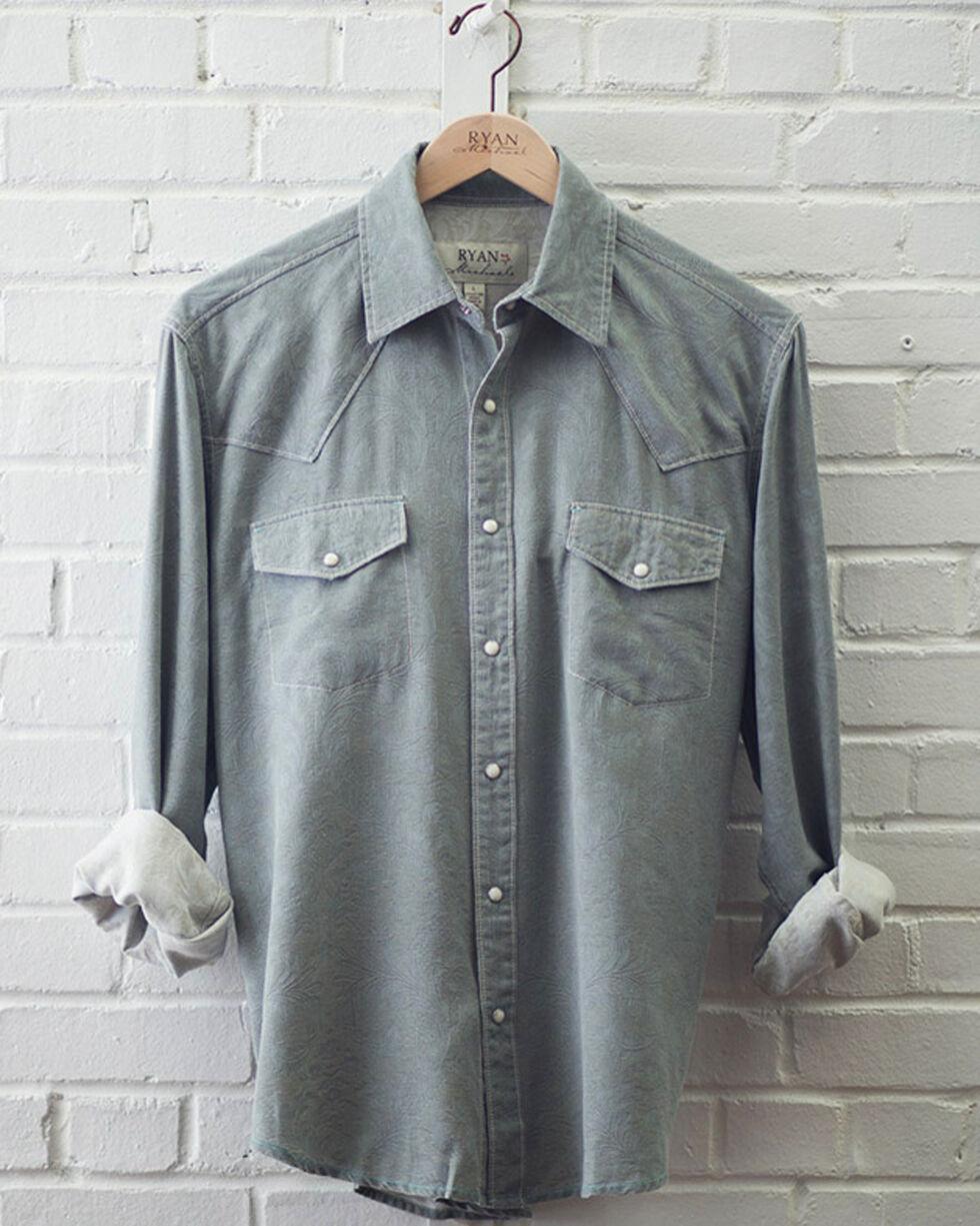 Ryan Michael Men's Stone Tapestry Jacquard Shirt, Grey, hi-res
