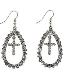 Shyanne® Women's Cross Teardrop Earrings , , hi-res