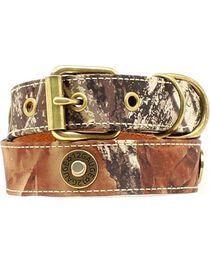 Double Barrel Camo Shotgun Shell Concho Dog Collar - XS-XL, , hi-res