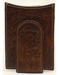 Ariat Floral Embossed Money Clip, , hi-res