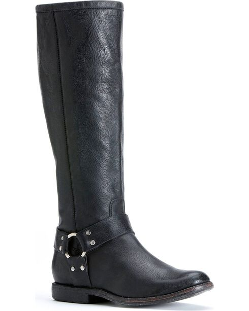 Frye Women's Philip Harness Tall Boots, Black, hi-res