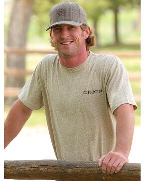 Cinch Men's Logo Short Sleeve T-Shirt, Khaki, hi-res