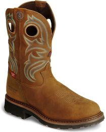Tony Lama Men's Signature Steel Toe Western Work Boots, , hi-res