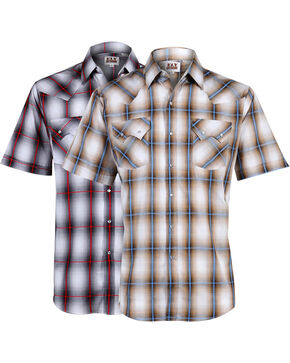 Ely Walker Men's Plaid Assorted Short Sleeve Shirt, Multi, hi-res