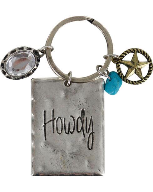 Shyanne® Women's Howdy Keychain, Silver, hi-res