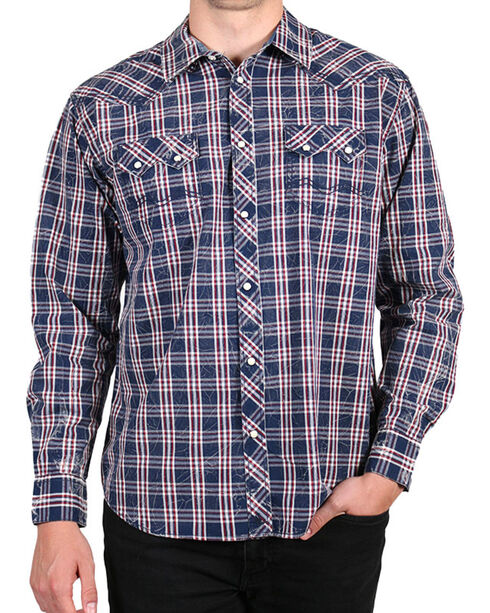 Moonshine Spirit® Men's Humbolt Long Sleeve Shirt , Navy, hi-res