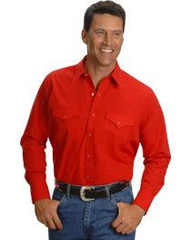 Ely Cattleman Men's Long Sleeve Solid Western Shirt - Big & Tall, , hi-res