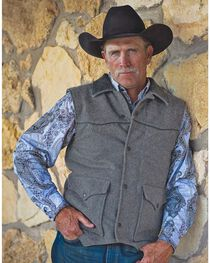 STS Ranchwear Men's Lariat Charcoal Grey Vest - Big & Tall - 4XL, , hi-res