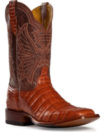 Cinch Classic Cognac Caiman Belly Mad Dog Cowboy Boots - Square Toe, , hi-res