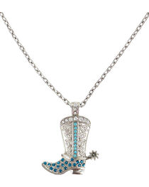 Shyanne® Women's Rhinestone Western Boot Necklace, , hi-res