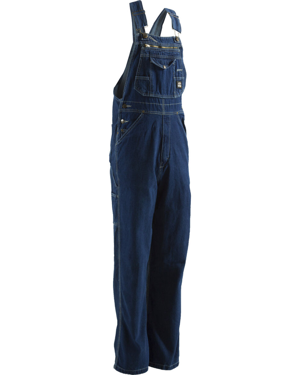 Berne Dark Stonewash Original Unlined Washed Denim Bib Overalls - Extra Short (3, Stonewash, hi-res