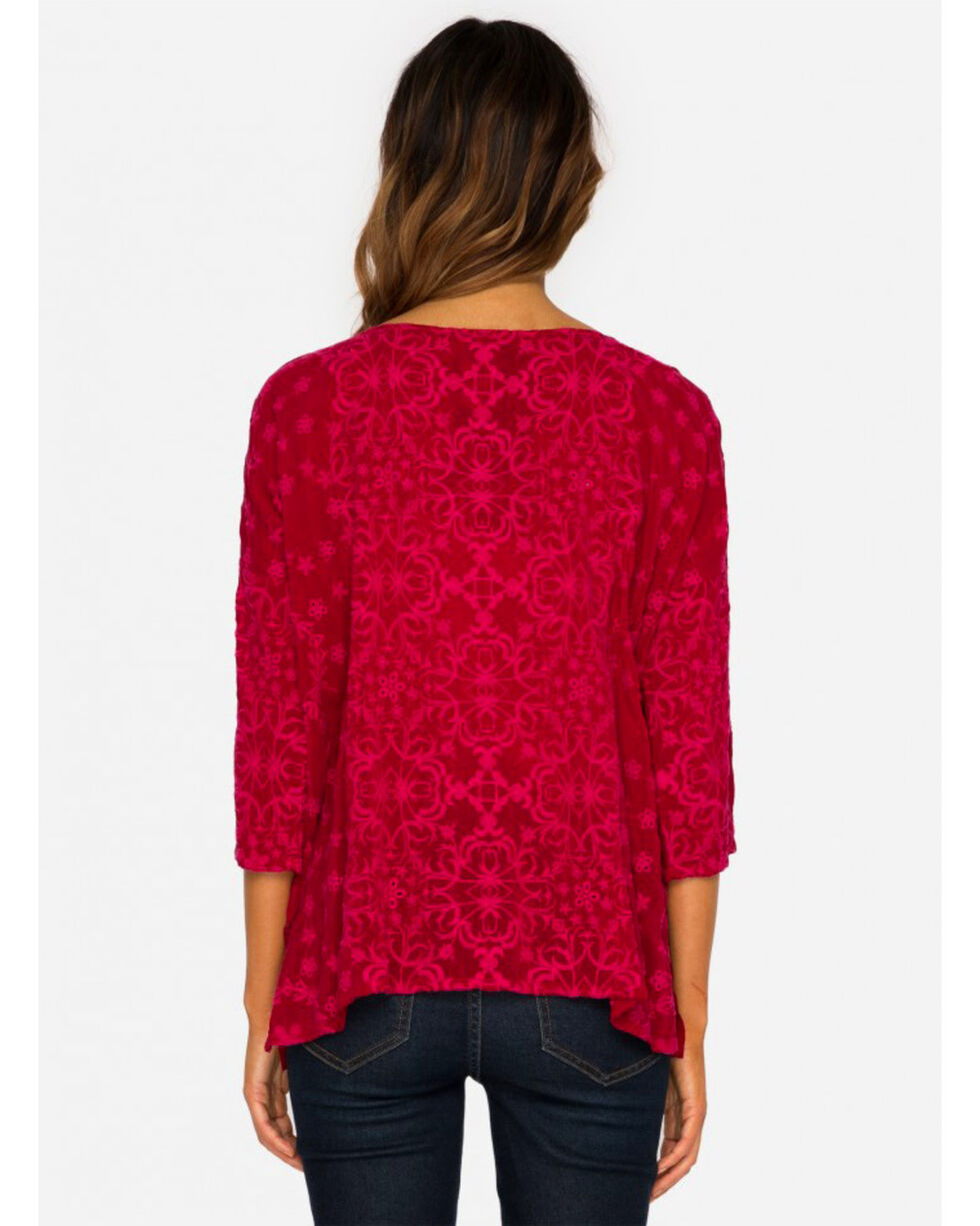 Johnny Was Women's Red Jossy Top, Red, hi-res