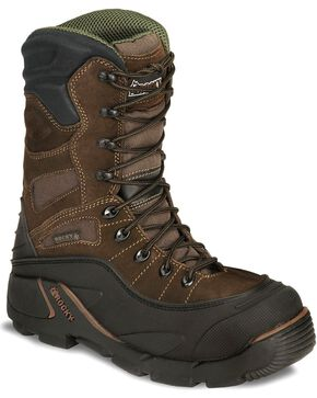 Rocky Men's Steel Toe Blizzard Stalker Work Boots, Brown, hi-res