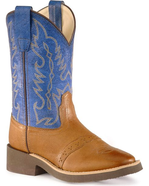 Jama Children's Crepe Square Toe Western Boots, Tan, hi-res