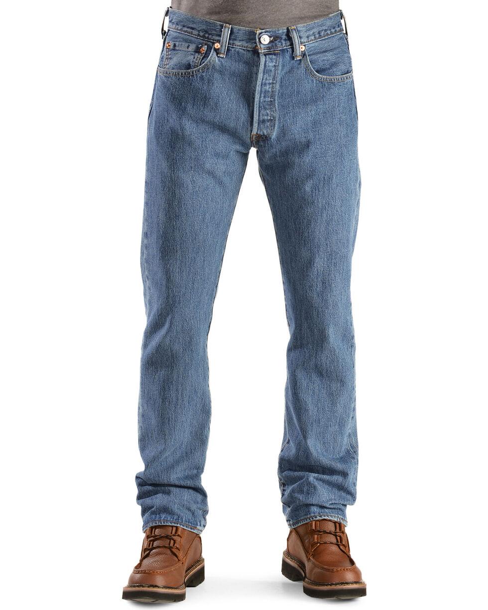 Levi's Men's Rinsed 501 Original  Jeans, Stonewash, hi-res