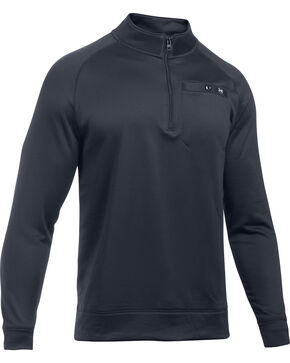 Under Armour Men's Shoreline 1/4 Zip Pullover, Black, hi-res