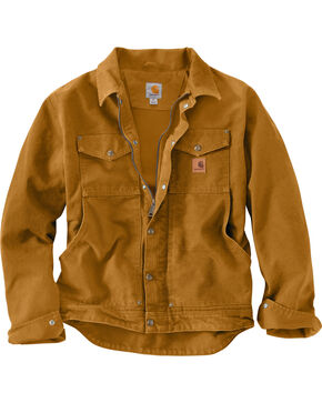 Carhartt Men's Pecan Berwick Jacket - Big & Tall, Pecan, hi-res