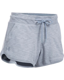 Under Armour Women's Grey Ocean Shoreline Terry Shorts, , hi-res