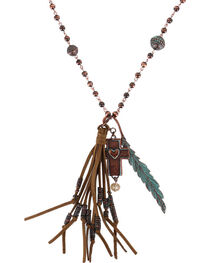 Shyanne® Women's Bronze Cross and Turquoise Beads Jewelry Set, , hi-res