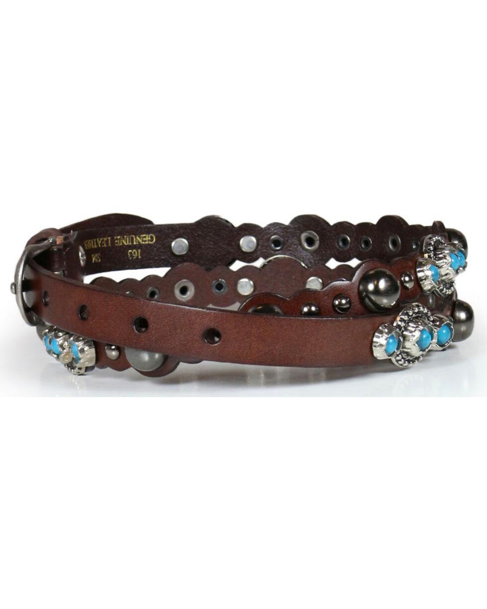 Shyanne® Women's Scallop & Stud Skinny Belt, Multi, hi-res