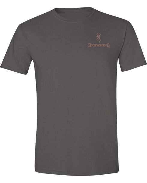 Browning Men's Twig Buckmark Charcoal Short Sleeve Tee, Charcoal Grey, hi-res