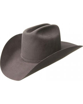 Bailey Men's Wheeler 3X Wool Felt Cowboy Hat, Grey, hi-res