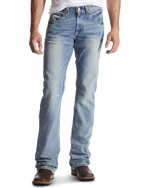 Ariat Men's M6 El Dorado Low Rise Boot Cut Jeans, Denim, hi-res
