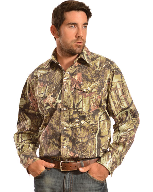 Gibson Trading Co. Men's Camo Long Sleeve Work Shirt, Camouflage, hi-res