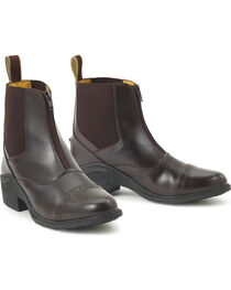 Ovation Kids' Synergy Zip-Front Paddock Boots, , hi-res