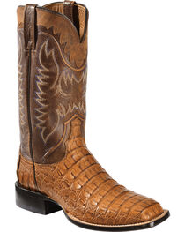 Lucchese Men's Rhys Hornback Caiman Exotic Western Boots, , hi-res