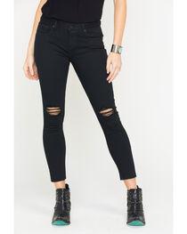 Miss Me Women's Black Destructed Ankle Jeans - Skinny , , hi-res