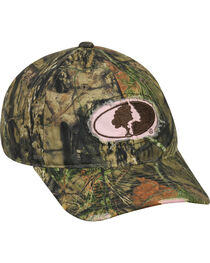 Mossy Oak Ladies Frayed Camo Cap, , hi-res