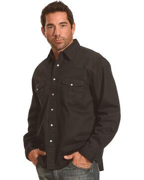 Crazy Cowboy Men's Black Legend Long Sleeve Western Work Shirt , Black, hi-res