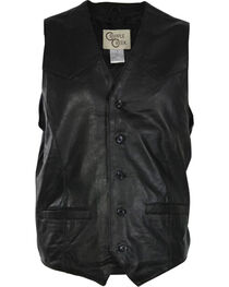 Cripple Creek Men's Lambskin Button Front Vest, , hi-res