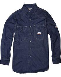 Rasco Men's Flame Resistant Long Sleeve Denim Western Shirt, , hi-res