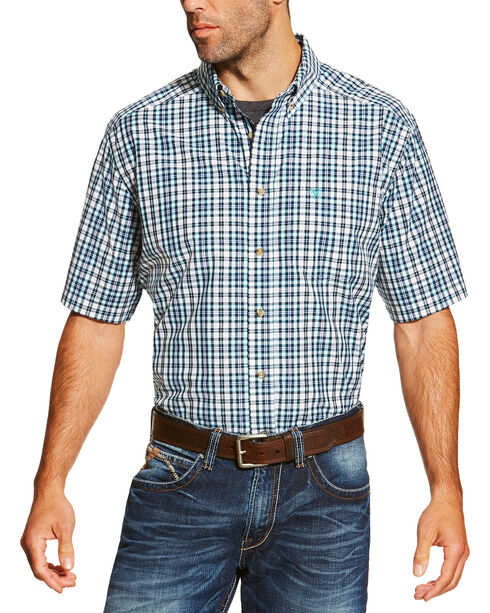 Ariat Men's Navy Izzy Shirt Short Sleeve Shirt , Navy, hi-res