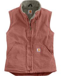 Carhartt Women's Mauve Sandstone Mock-Neck Vest, , hi-res
