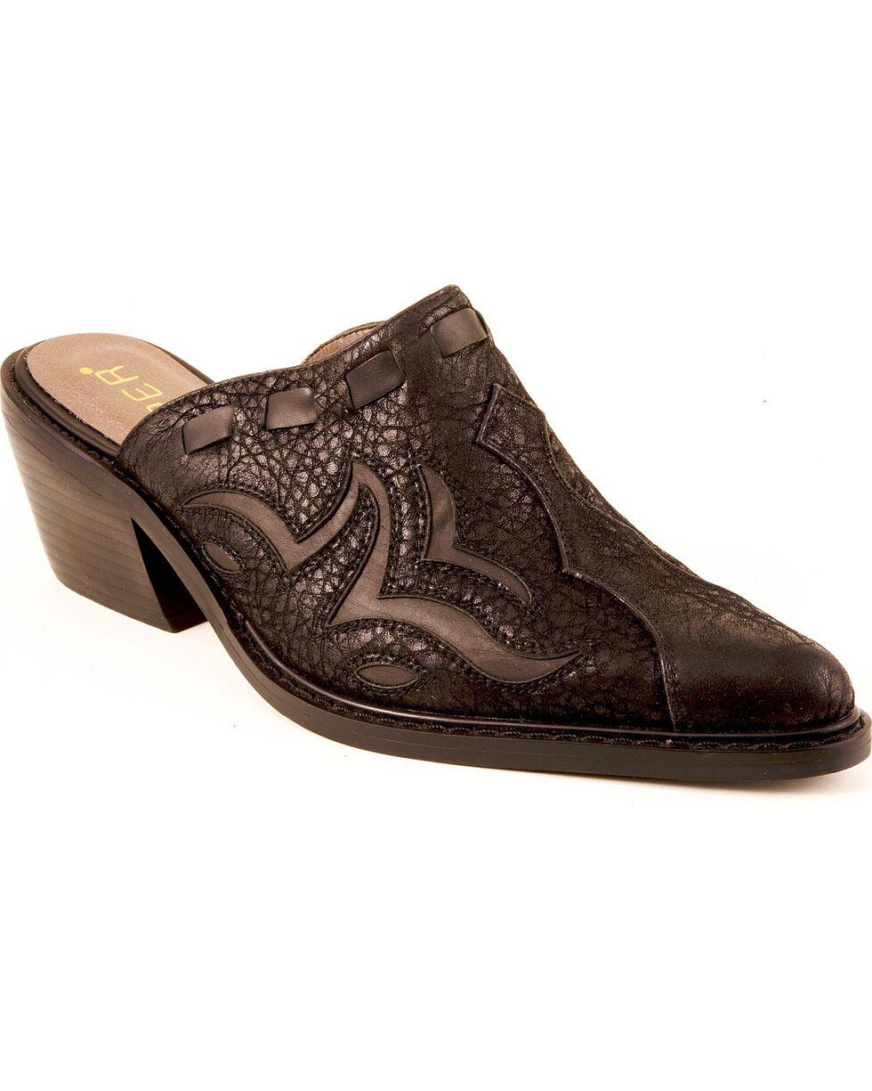 Roper Women's Mule Underlay Slip On Casual Shoe, Black, hi-res