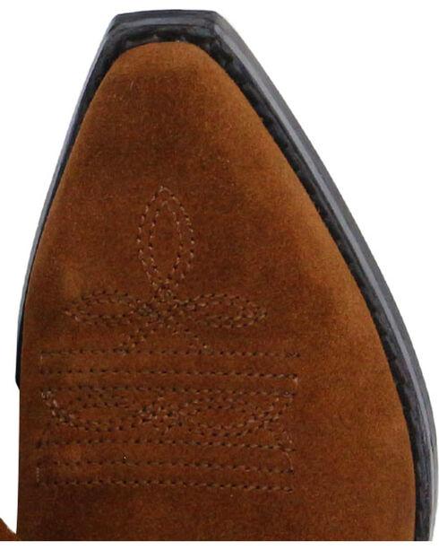 Shyanne® Girls' Fringe Snip Toe Western Boots, Brown, hi-res